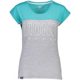 Mons Royale W's Phoenix Cap MR Box OL T-Shirt Tropicana/Grey Marl